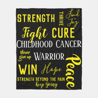 Childhood Cancer Warrior blanket