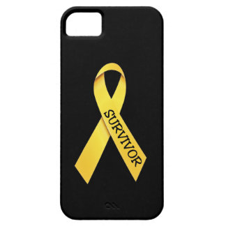 Childhood Cancer Yellow Ribbon iPhone 5 Case
