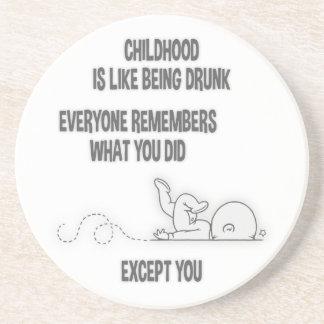 Childhood Drunk Coaster