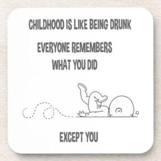 Childhood Drunk Coasters