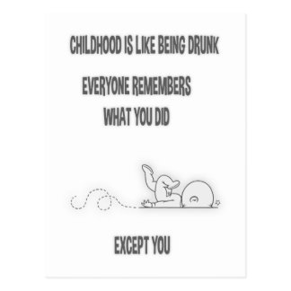 Childhood Drunk Postcard
