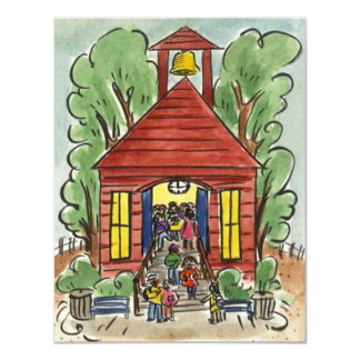 CHILDHOOD EDUCATION SCHOOL HOUSE CUTE INVITATION