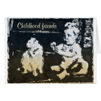 Childhood Friends Greeting Card