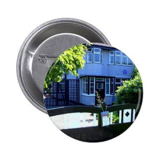 Childhood home of John Lennon 6 Cm Round Badge