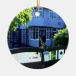 Childhood home of John Lennon Round Ceramic Decoration