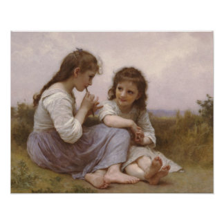 Childhood Idyll by Bouguereau Poster