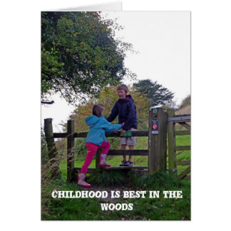 Childhood in the woods Card