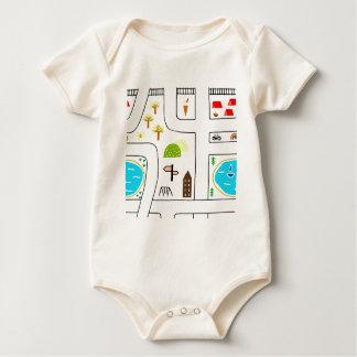 Childhood Map Baby Bodysuit