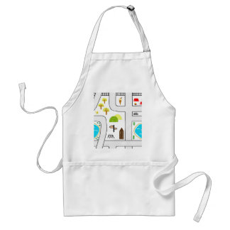 Childhood Map Standard Apron