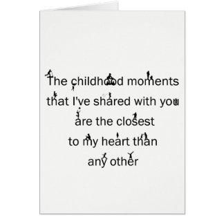 Childhood Memories Birthday Card