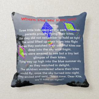 Childhood Memories Kite Flying Poem Pillows