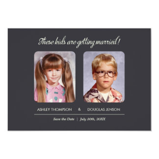 Childhood Photos Save the Date Invitation