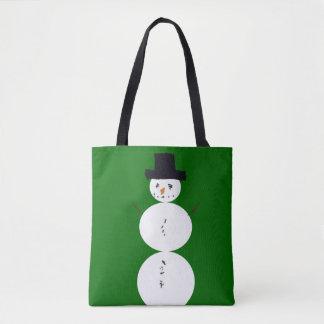 Childhood Snowman Tote Bag