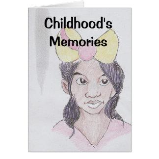 Childhood's Memories Greeting Card