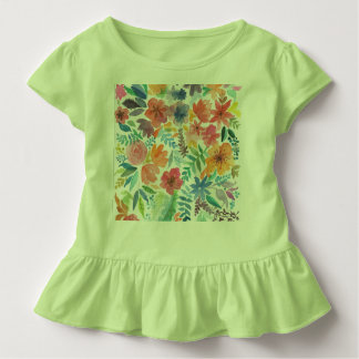 Childish Blusinha flowery green color Toddler T-Shirt
