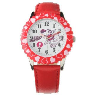 "Childish clock ""Ship dog "" Wristwatches"
