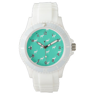 Childish Feminine White Silica clock Livens up Watch