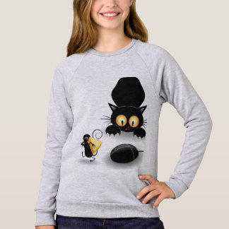 Childish Moletom feminine Cat and Rat Sweatshirt
