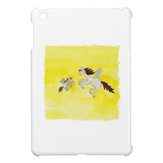 Childish Watercolor drawing with Winged Horses Case For The iPad Mini