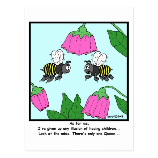 Childless: Bee cartoon Post Card