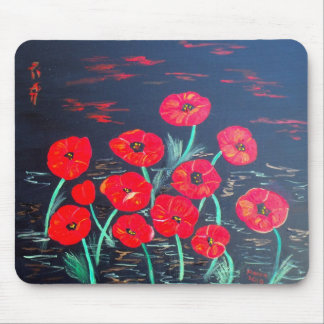 Childlike Poppies Mouse Pad