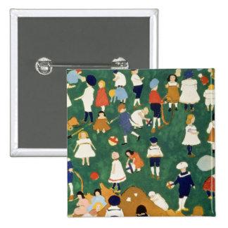 Children, 1908 15 cm square badge