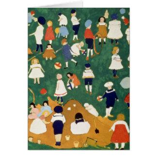 Children, 1908 greeting card