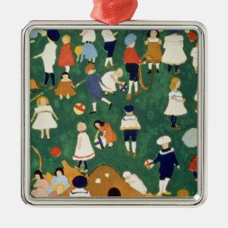 Children, 1908 Silver-Colored square decoration