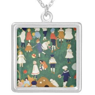 Children, 1908 square pendant necklace