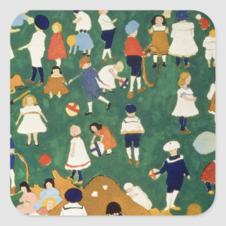 Children, 1908 square sticker