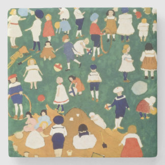 Children, 1908 stone beverage coaster