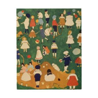 Children, 1908 wood canvas