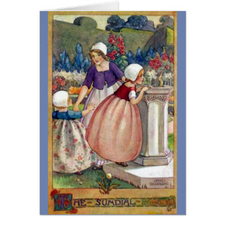 Children and a Sundial - Card