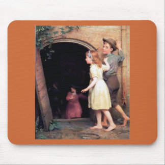 Children and cellar scary place painting mouse pads