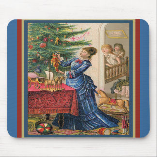 Children and Christmas Cheer Mousepads