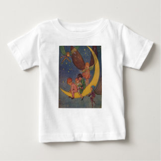 Children and Fairies Ride the Moon, Baby T-Shirt