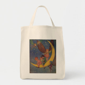 Children and Fairies Ride the Moon, Tote Bag