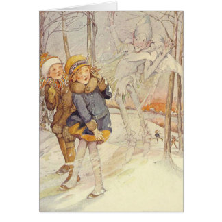 Children and Jack Frost - Card
