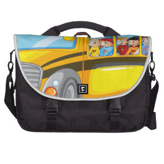 Children and school bus bags for laptop
