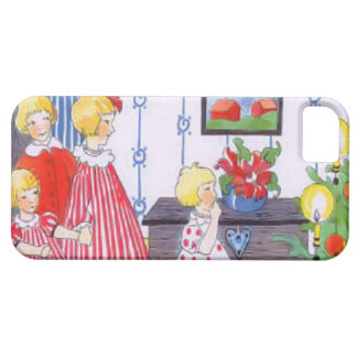 Children and the Christmas tree iPhone 5 Covers