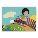 children and the sheep card