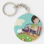 children and the sheep keychains