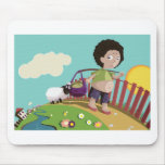 children and the sheep mouse pads