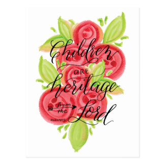 Children are Heritage from the Lord Postcard