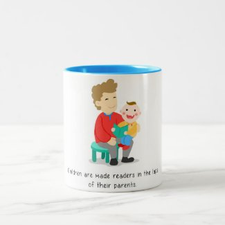 Children are made readers Two-Tone coffee mug