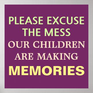 Children are making memories poster