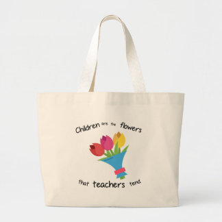 Children are the Flowers jumbo tote bag