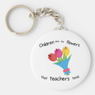 Children are the Flowers Key Chain