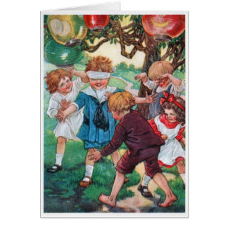 Children at Play, Card