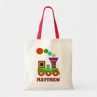 Children Bags: a Train Tote Bag